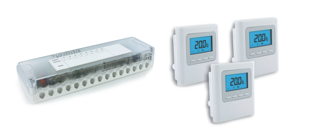 Multikit 8 kanaals - Zonethermostaat BUS - Zone thermostaat draadloos - APP besturing